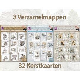 Creatief Art Action! 3 chemises de collection 32 cartes de Noël!