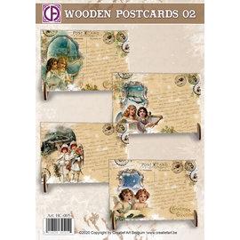 Creatief Art Holzpostkarten 02