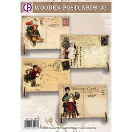 Creatief Art Cartes postales en bois 03