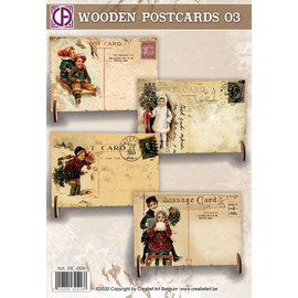 Creatief Art Wooden Postcards 03