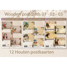 Creastitch Actie Wooden Postcards 01 - 02 - 03