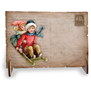 Creatief Art Holzpostkarten 01