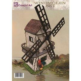 Creatief Art Construction de modèles de moulins à vent