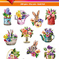 Hearty Crafts Easy 3D topper Flowers in Spring
