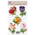 Creatief Art 3D Glang Schneckendrucke - Blumen und Rosen 01