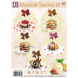 Creatief Art Glanslak Taarten 01 Pakket