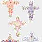 Creatief Art 3D glanslak Prenten - Condoleance kruisjes 01