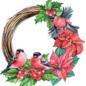 Creatief Art 3D glanslak Prenten - Kerstkransen 01