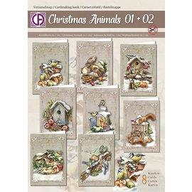 Creatief Art Dossier de collection Animaux de Noël 01 + 02