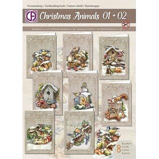 Creatief Art Verzamelmap Christmas animals 01 + 02