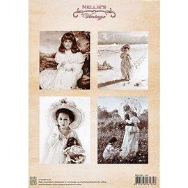 "A4 knipvel Nellie's Vintage NEVI-001 ""girl """