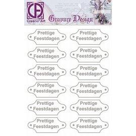 "Diepdruk labels ""Prettige Feestdagen"" 24 labels"