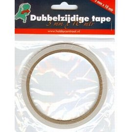 Dubbelzijdig tape 3 mm breed x 10m