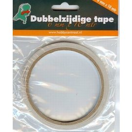 Dubbelzijdig tape 6 mm breed x 10m