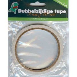 Dubbelzijdig tape 9 mm breed x 10m