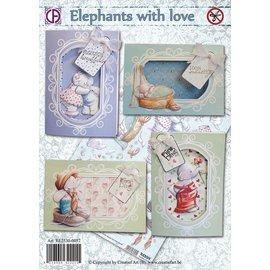 Creatief Art Elefanten mit Liebe