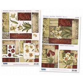 Facettenkaarten lelies en rozen