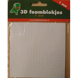 Foam blokjes 1 mm