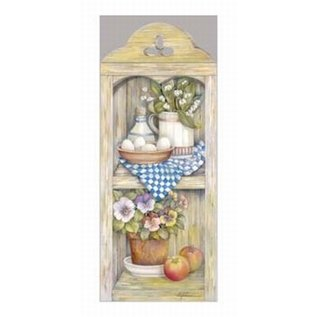 Creatief Art Pakket 6 x SWR8-0005 keukenmotief met appels