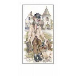 Creatief Art Pakket 6st  SWR1-155 clown met hond