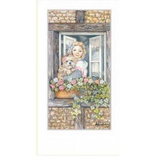Creatief Art Pakket 6st  SWR1-159 meisje in raam