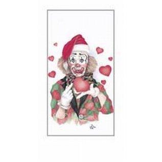 Creatief Art Pakket 6st SWR1-100 clown met hartjes