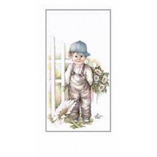 Creatief Art Pakket 6st SWR1-103  jongen aanhekje