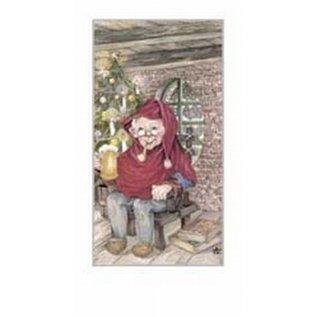 Creatief Art Pakket 6st SWR1-104  kabouter aan kerstboom