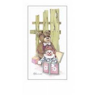 Creatief Art Pakket 6st SWR1-109  beer aan hekje