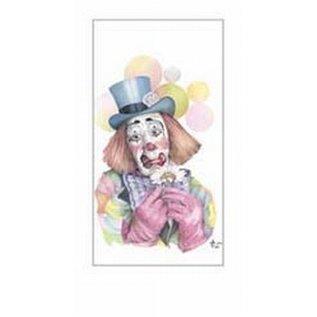 Creatief Art Pakket 6st SWR1-111 clown met bloem