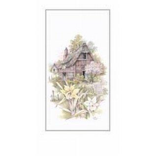 Creatief Art Pakket 6st SWR1-112 huis met bloemen