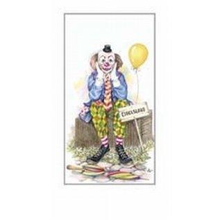 Creatief Art Pakket 6st SWR1-114 clown op rieten mand