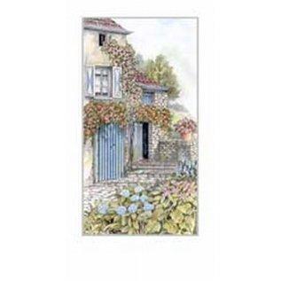 Creatief Art Pakket 6st SWR1-116 Frans huis met bloemen