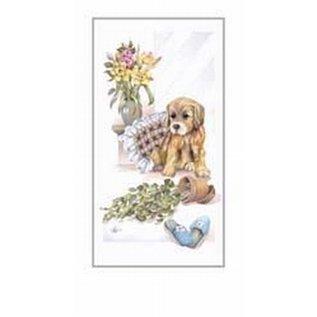 Creatief Art Pakket 6st SWR1-119 hond met pantoffels