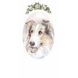 Creatief Art Pakket 6st SWR1-124 Lassie ovaal met bloemen