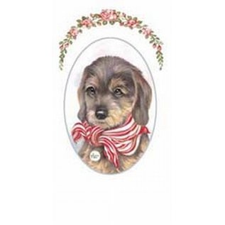 Creatief Art Pakket 6st SWR1-125 hond met sjaal ovaal