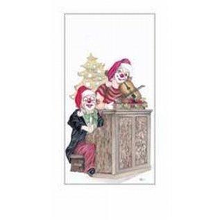 Creatief Art Pakket 6st SWR1-126 clowns aan piano in kerst