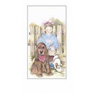 Creatief Art Pakket 6st SWR1-127 meisje met hond