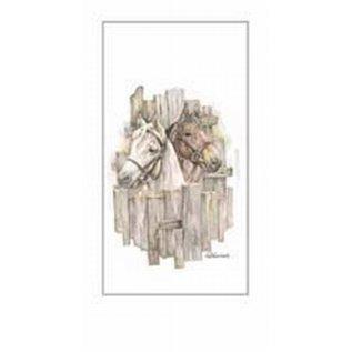 Creatief Art Pakket 6st SWR1-139  paarden voor hek