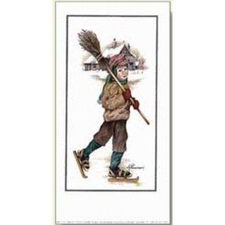 Creatief Art Pakket 6st SWR1-77 schaatser met bezem