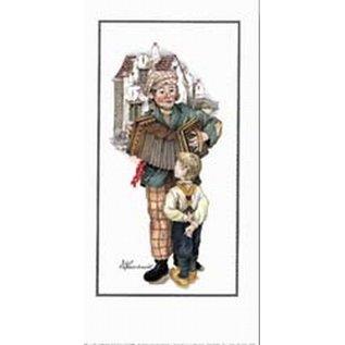 Creatief Art Pakket 6st SWR1-78 straatmuzikant met kind