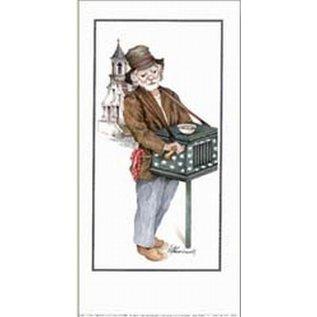 Creatief Art Pakket 6st SWR1-83 straatmuzikant met orgel