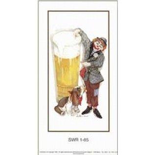 Creatief Art Pakket 6st SWR1-85 clown met pint