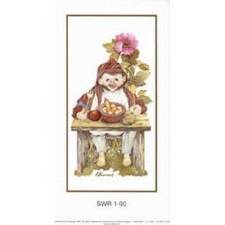 Creatief Art Pakket 6st SWR1-90  kabouterr aan tafel