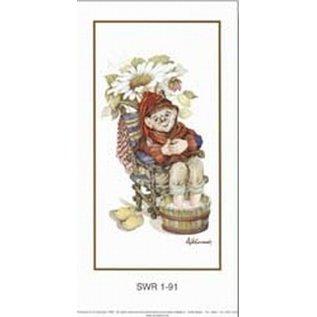 Creatief Art Pakket 6st SWR1-91 Kabouter in waskom