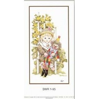 Creatief Art Pakket 6st SWR1-95 Kind met clownpop
