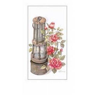 Creatief Art Pakket 6st SWR1-98  petroliumlamp met bloemen
