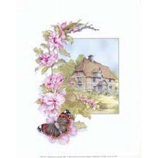 Creatief Art Pakket 6x SW vlinder op bloem