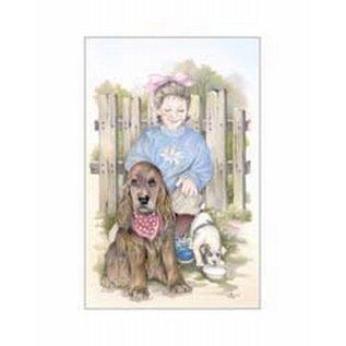 Creatief Art Pakket 6x SWR 3-0135 meisje met hond