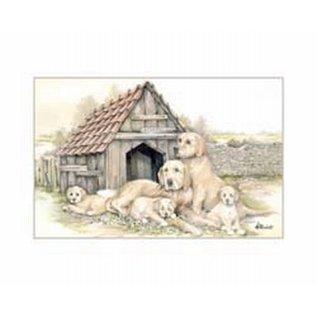 Creatief Art Pakket 6x SWR 3-0138 honden bij hok